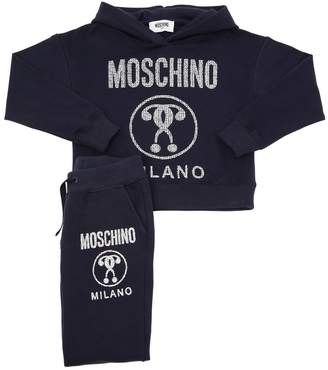 Moschino Logo Cotton Sweatshirt & Sweatpants