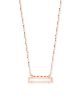 Kendra Scott Leanor Pendant Necklace in Rose Gold