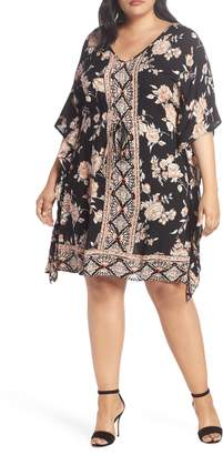 Angie Floral Print Kaftan Dress
