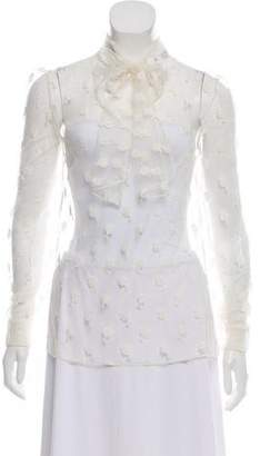 Valentino Lace Long Sleeve Blouse