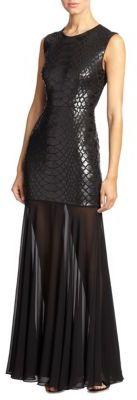 BCBGMAXAZRIAMarielle Python-Sequined Gown