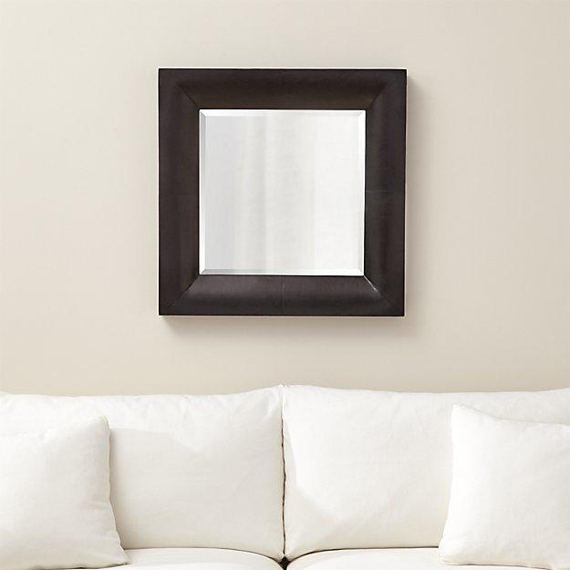Crate & BarrelMaxx Black Wall Mirror