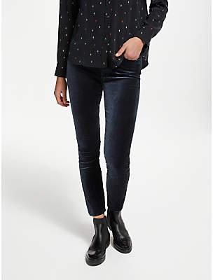 Hoxton High Rise Ultra Skinny Velvet Jeans