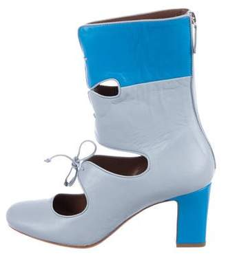 Tabitha Simmons Leather Ankle Booties