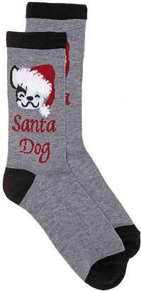 K. Bell Santa Dog Crew Socks - Women's