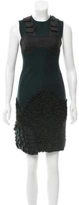 Yigal Azrouel Ruffle-Paneled Sheath Dress