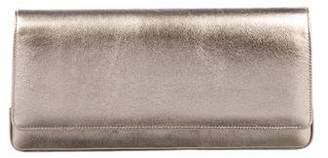 Manolo Blahnik Metallic Leather Clutch