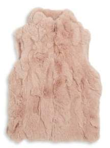 Adrienne Landau Toddler's, Little Girl's& Girl's Rabbit Fur Vest