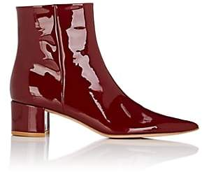 Gianvito Rossi Women's Block-Heel Patent Leather Ankle Boots - Wine
