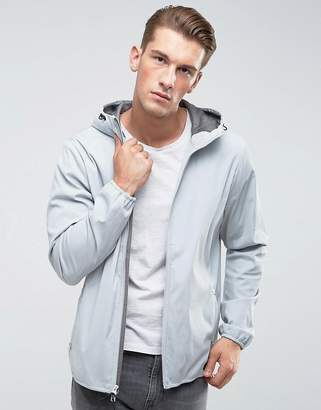 Abercrombie & Fitch Hooded Jacket Lightweight Nylon in Gray
