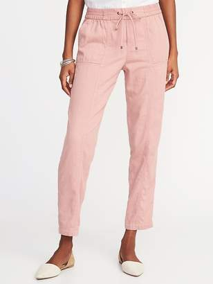 Old Navy Mid-Rise Soft Utility Cropped Pants for Women