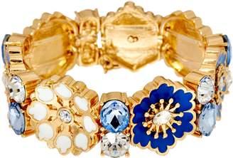 C. Wonder Crystal & Enamel Floral Station Stretch Bracelet