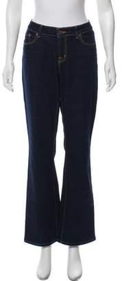 J Brand Mid- Rise Wide- Leg Jeans