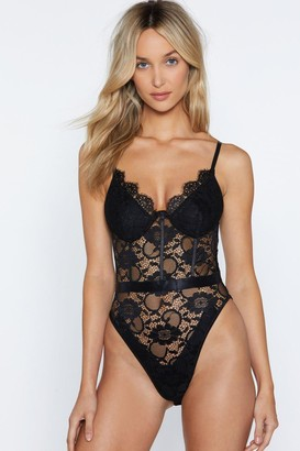 Nasty Gal Lace Me Up Bodysuit