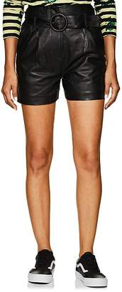 Jagger LES COYOTES DE PARIS Women's Leather Belted Shorts