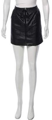 Rebecca Taylor Leather Mini Skirt