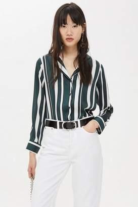 Topshop Tall Stripe PJ Style Shirt