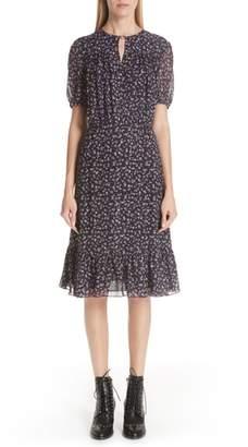 Altuzarra Floral Print Ruffle Hem Dress