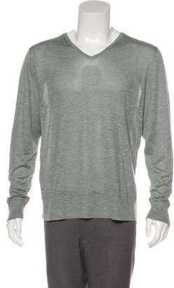 John Varvatos Silk Blend V-Neck Sweater