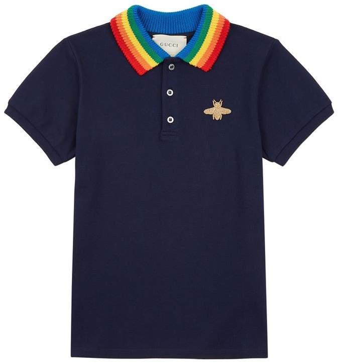 Rainbow Collar Polo Shirt