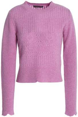 ALEXACHUNG Alexa Chung Pointelle-Knit Wool Sweater