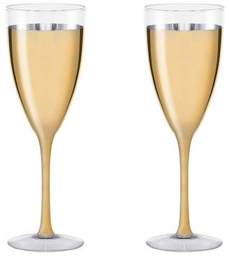 JAY IMPORTS Gold Cannes Champagne Coupe - Set of 2
