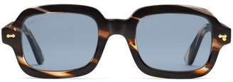 Gucci Rectangular-frame acetate glasses