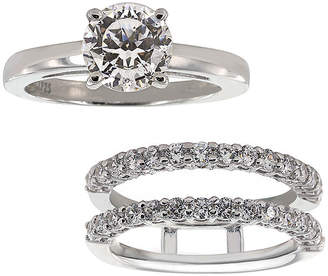 JCPenney FINE JEWELRY DiamonArt Cubic Zirconia Solitaire Ring with Ring Guard Insert