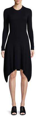 Mo&Co. Wool-Blend Sweater Dress
