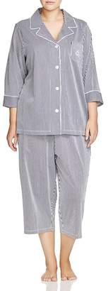 Lauren Ralph Lauren Plus Bingham Knits Capri Pajama Set