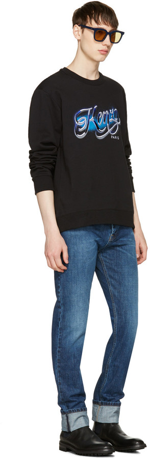 Kenzo Black Lyrics Sweatshirt 4