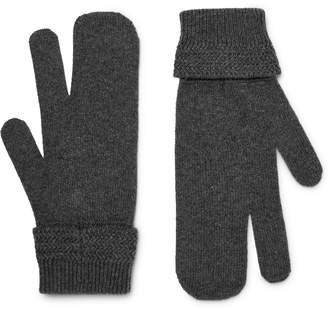 Maison Margiela Melange Wool And Cashmere-Blend Mittens