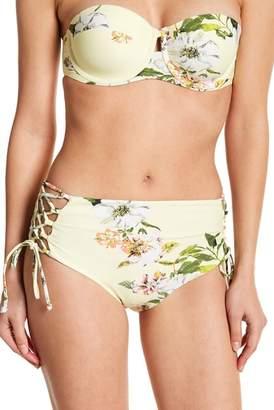 Rachel Roy High Waist Lace-Up Bikini Bottoms