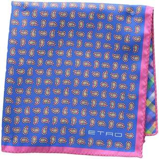 Etro Double Faced Mini Paisley Pocket Square Ties