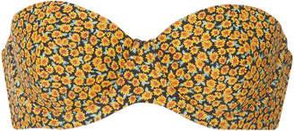 Onia +WeWoreWhat Ace Floral-Print Bandeau Bikini Top