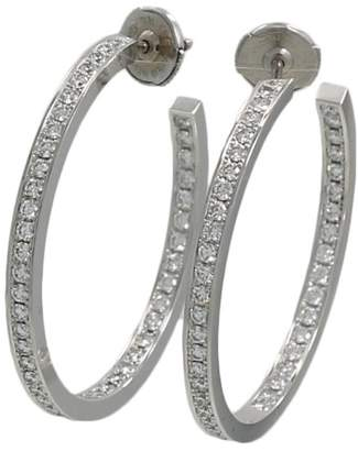 Cartier 18K White Gold and Diamond Hoop Earrings