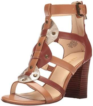 Nine West Women's NWBRADDY3 Gladiator Sandals, Multicolour (New Saddle/Dk Caramel/Water Gold CU)