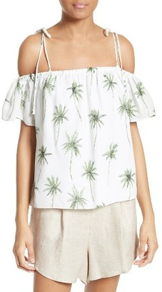 Women's Milly Eden Palm Tree Print Top $295 thestylecure.com