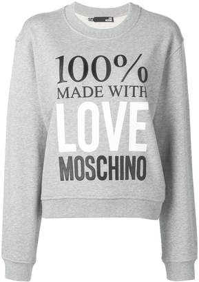 Love Moschino Made with Love sweatshirt