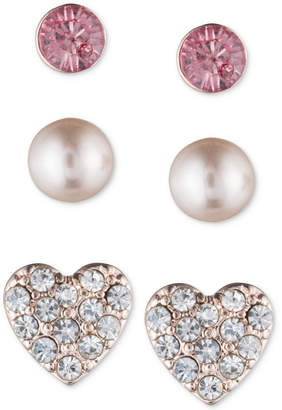 lonna & lilly Rose Gold-Tone 3-Pc. Set Stud Earrings