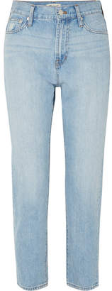 Madewell The Perfect Summer Cropped High-rise Straight-leg Jeans - Light denim