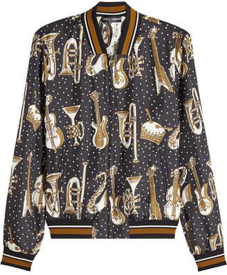 Dolce & Gabbana Printed Silk Bomber
