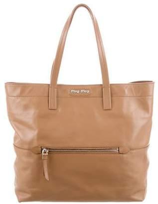 Miu Miu Leather Tote Bag