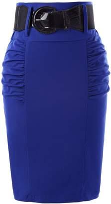Belle Poque Retro Knee Length Vintage Skirts Floral Cotton Skirts S KK610-2