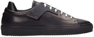 Oamc Patch Black Leather Sneakers