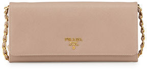 Prada Saffiano Wallet-on-Chain, Black (Nero)