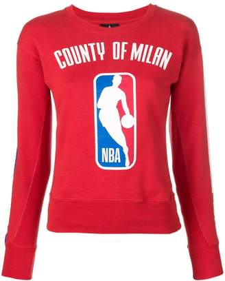 Marcelo Burlon County of Milan front printed jumper