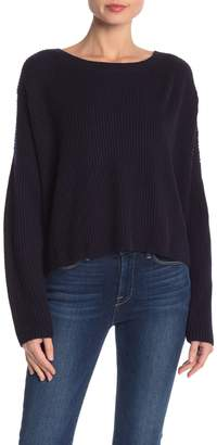 French Connection Back Twist Knit Pullover