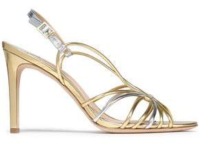 Diane von Furstenberg Milena Two-Tone Metallic Leather Sandals