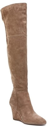 Women's Via Spiga 'Kennedy' Wedge Over The Knee Boot $495 thestylecure.com